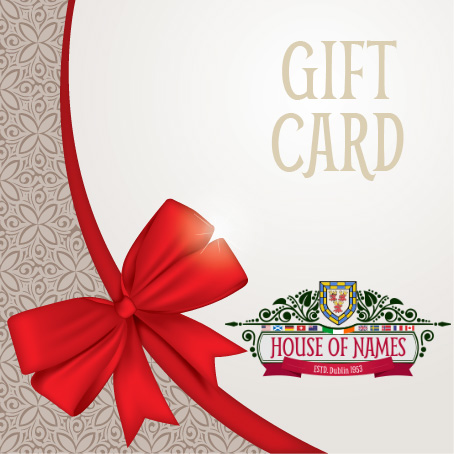 House of Names Heraldry Shop Gift Card
