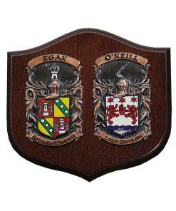 The Wedding Day Shield - Heraldry Shop House of Names, Dublin, Ireland
