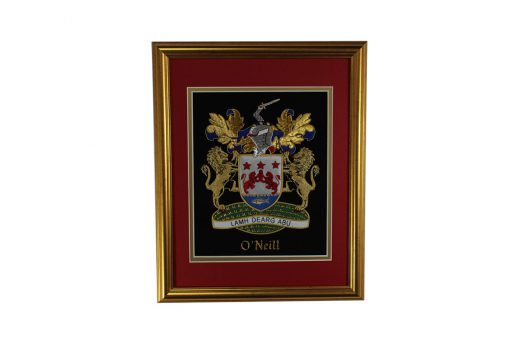 Large Single Embroideries - Heraldry Shop House of Names, Dublin, Ireland