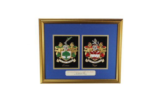 Small Double Embroideries - Heraldry Shop House of Names, Dublin, Ireland