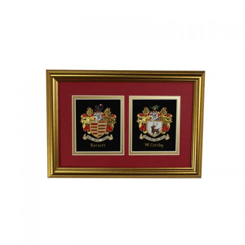 Mini Double Embroideries - Heraldry Shop House of Names, Dublin, Ireland