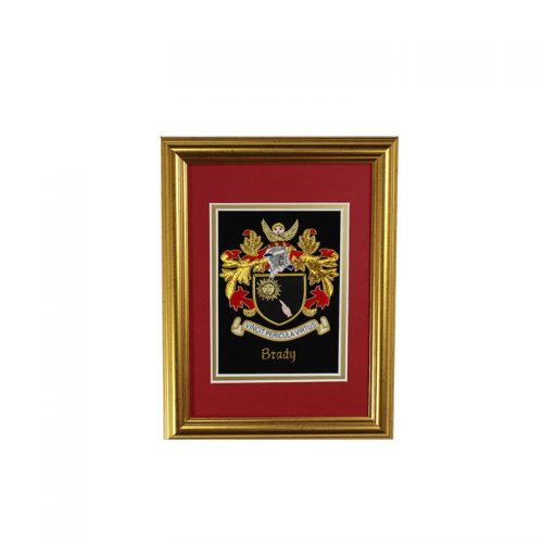 Mini Single Embroideries - Heraldry Shop House of Names, Dublin, Ireland