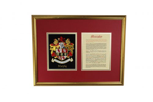 Medium Single and Calligraphy Family History - Heraldry Shop House of Names, Dublin, Ireland