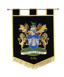 Mini Handcrafted Embroidered Banners - Heraldry Shop House of Names, Dublin, Ireland