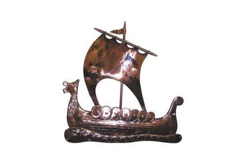 Galway Hooker Ship copper art - House of Names, Dublin, Ireland