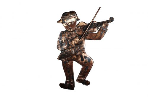 Fiddle Player - Heraldry Shop House of Names, Dublin, Ireland