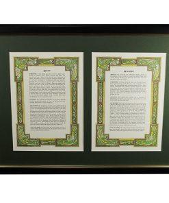 Double Celtic History Set - House of Names, Dublin, Ireland