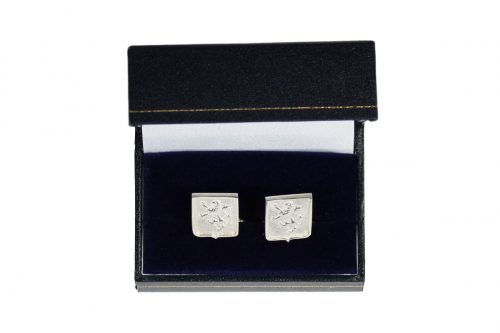 Square Shield Shaped Cuff Links - Heraldry Shop House of Names, Dublin, Ireland